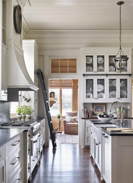 Classical-architecture-open-kitchen-Louissiana-bayou-house