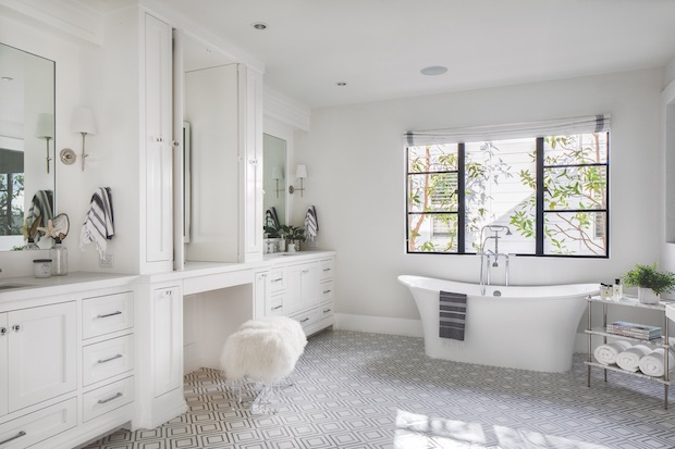 Master bath in a traditionally designed home