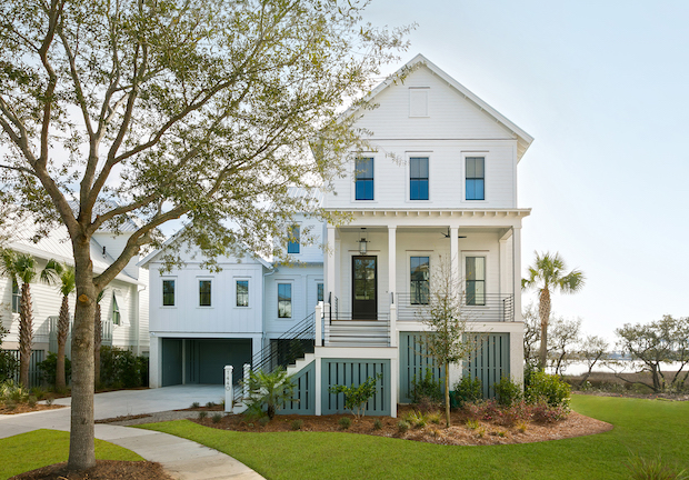 traditional architecture featured in front exterior of Charleston-home