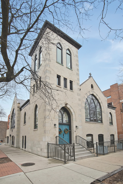 Exterior of former church in Chicago