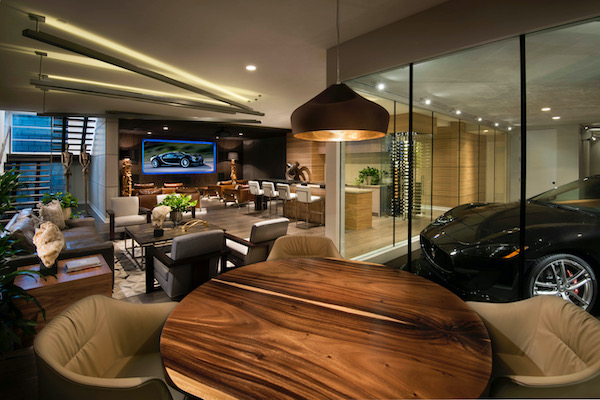 Another view of Car Bar interior and poker table
