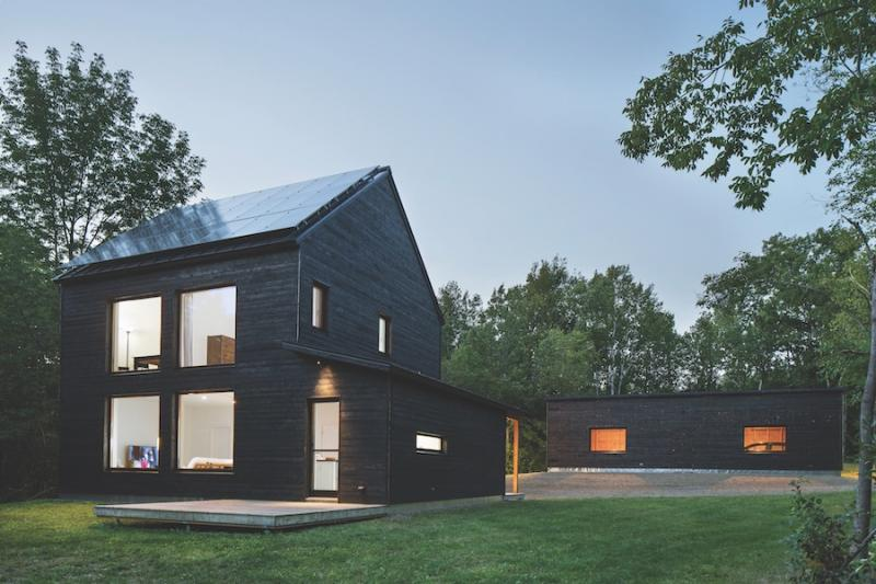 Passive house with cedar siding