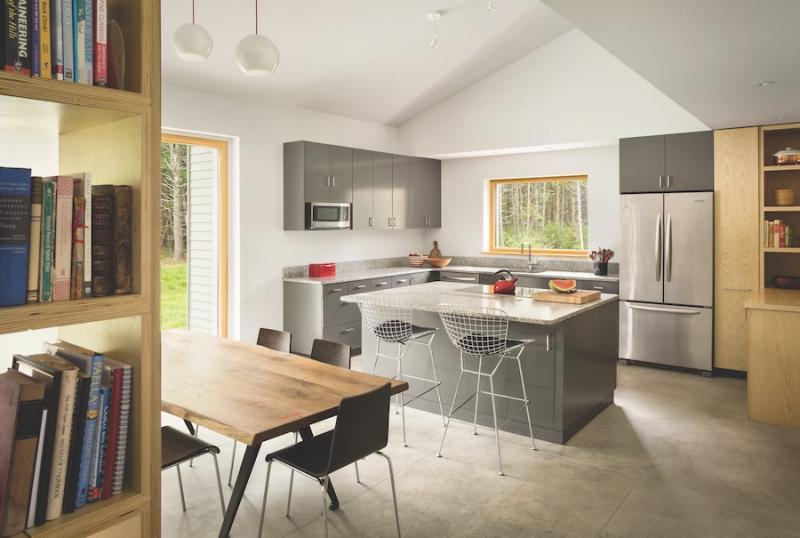 Passive House kitchen connecting to outdoors