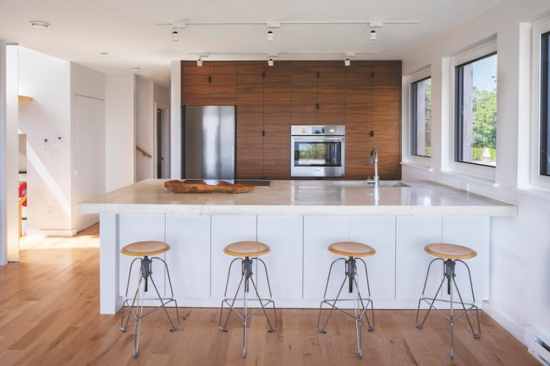 Kitchen of Passive House in Portland, Maine