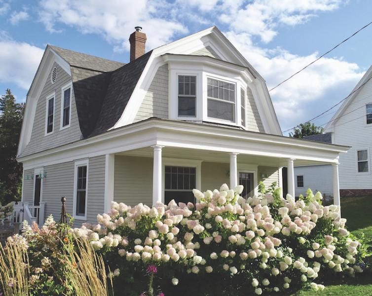 Shingle-style Victorian house exterior in Port Clyde, Maine