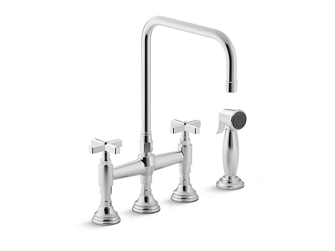 5 Kallista For Town Michael Smith kitchen faucet with cross handles