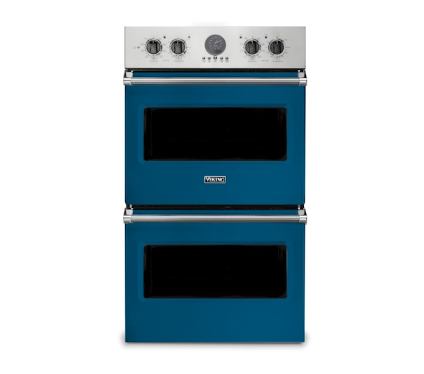 Blue Viking double oven