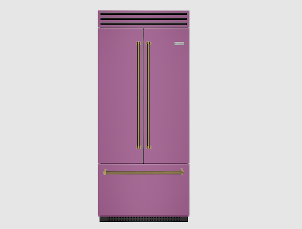 Pink Bluestar french door refrigerator
