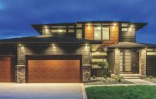 Front exterior view of Modern Craftsman house