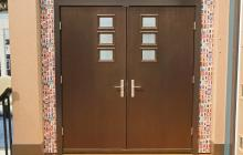 Therma-Tru Pulse Mahogany Door