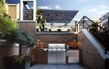 chicago roof decks and gardens outdoor kitchens