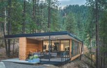 Exterior of river edge vacation home