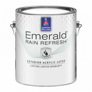 Gallon can of Sherwin Williams Emerald paint