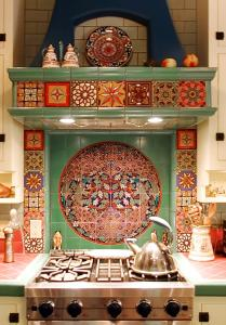 Kitchen backsplash by B. David Levine