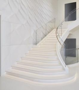 Stair with curvilinear theme