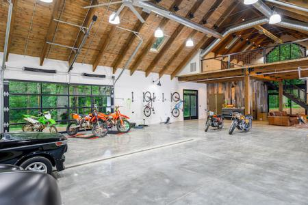 Interior of the Hobby Barn garage