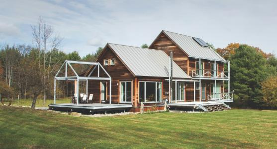 Vermont farmstead with contemporary features