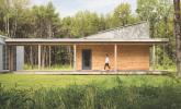 Exterior of Passive House in Portland Maine